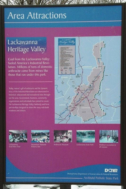 Lackawanna Heritage Valley Marker image. Click for full size.