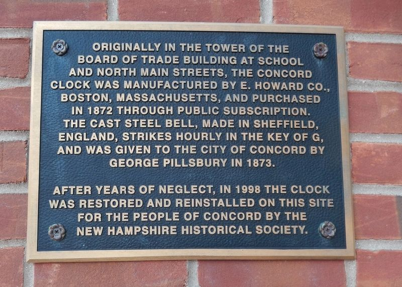 Concord Clock Marker image. Click for full size.