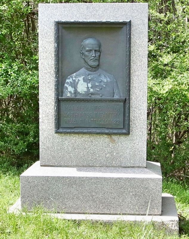 Maj. Alexander Yates monument. image. Click for full size.