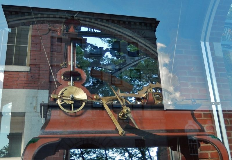 Concord Clock (<i>mechanism detail - inside glass case</i>) image. Click for full size.
