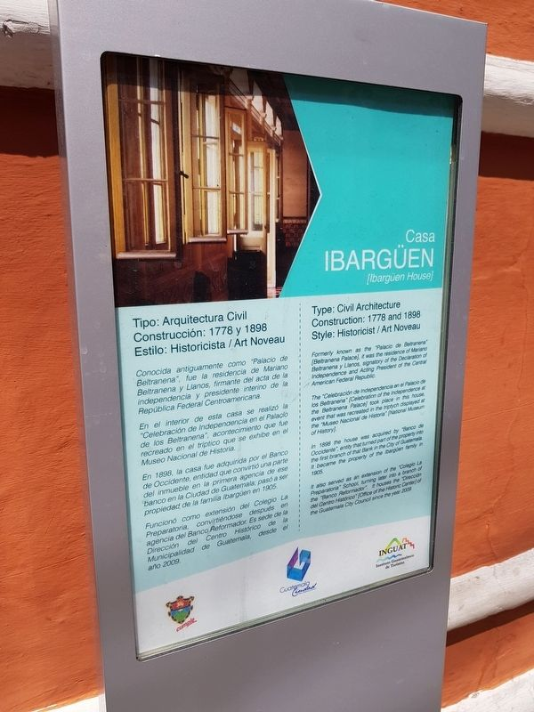 Ibargüen House Marker image. Click for full size.