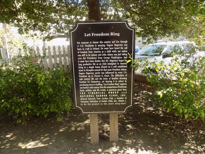 Let Freedom Ring Marker image. Click for full size.