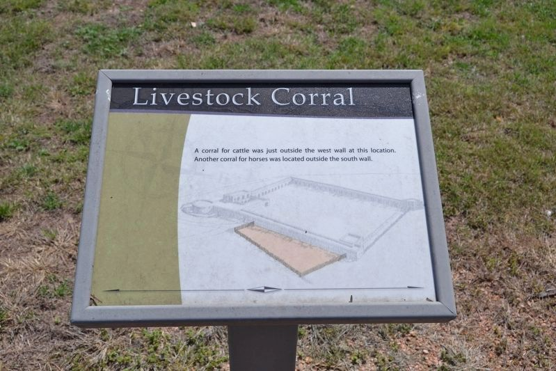 Interpretive Sign for Livestock Corral image. Click for full size.