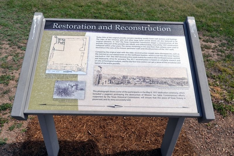 Restoration and Reconstruction Marker image. Click for full size.