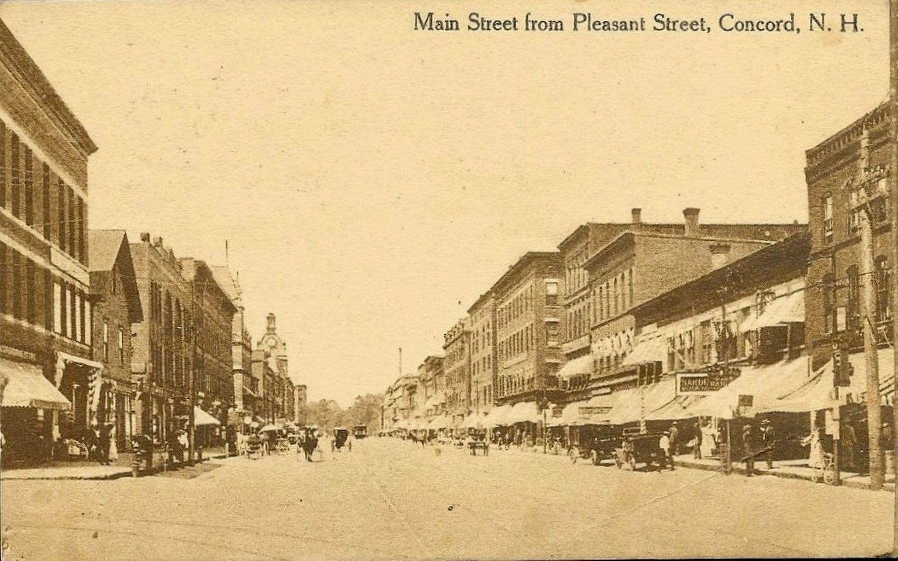 <i>Main Street from Pleasant Street, Concord, N.H.</i> image. Click for full size.