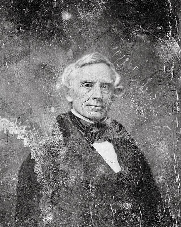 <i>Samuel F. B. Morse, head-and-shoulders portrait, facing front</i> image. Click for full size.
