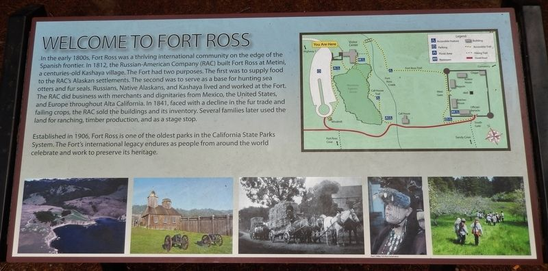 Welcome to Fort Ross Marker image. Click for full size.