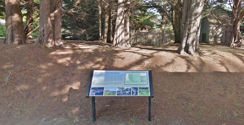 Welcome to Fort Ross Marker (<i>wide view</i>) image. Click for full size.