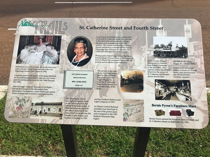 St. Catherine Street and Fourth Street Marker image. Click for full size.