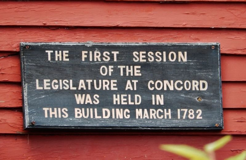 First Session of the Legislature at Concord Marker image. Click for full size.