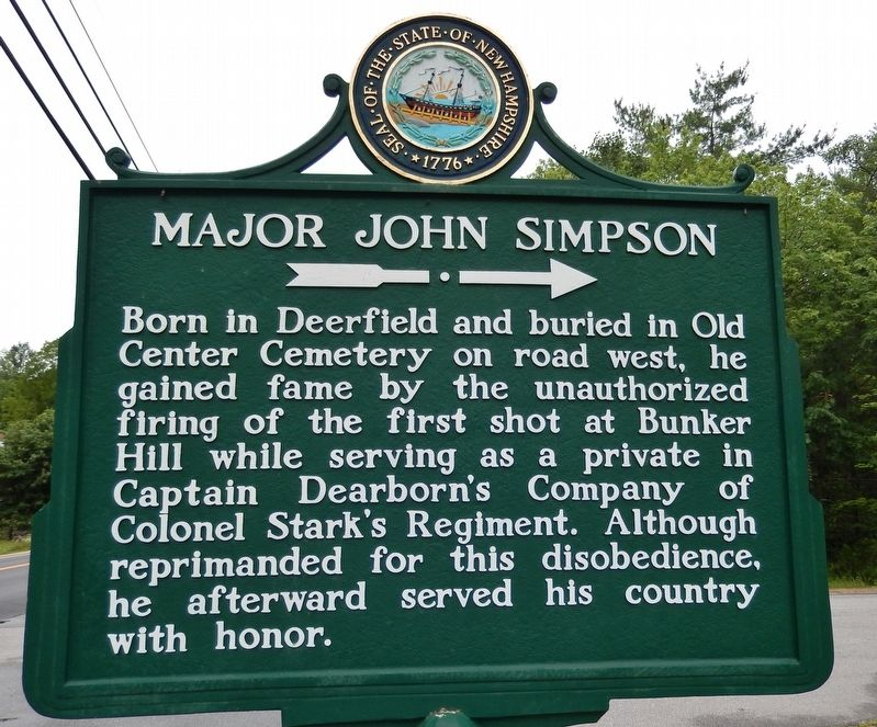 Major John Simpson Marker image. Click for full size.