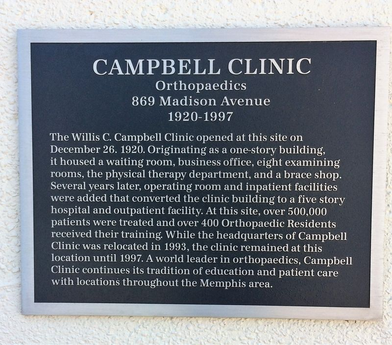 Campbell Clinic Marker image. Click for full size.