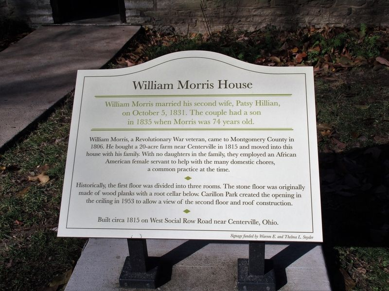 William Morris House Marker image. Click for full size.