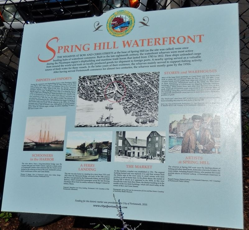 Spring Hill Waterfront Marker image. Click for full size.