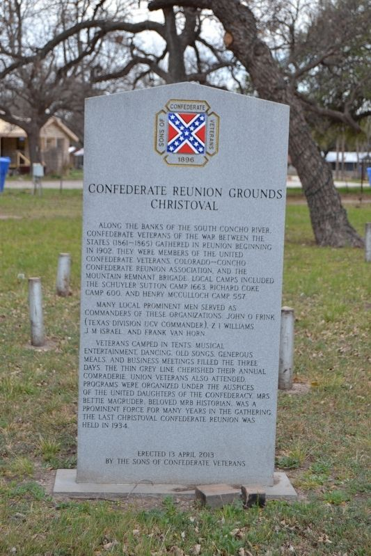 Confederate Reunion Grounds Marker image. Click for full size.