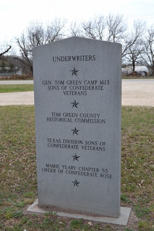 Back Side of Confederate Reunion Grounds Marker image. Click for full size.