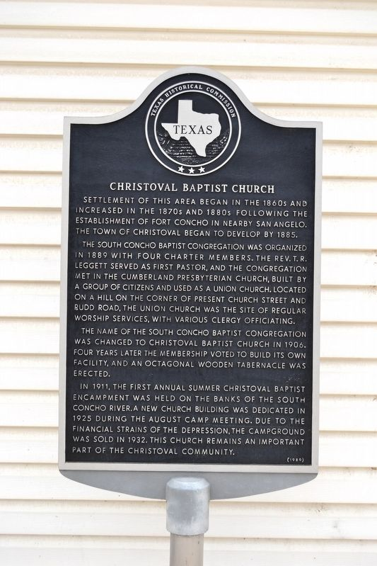 Christoval Baptist Church Marker image. Click for full size.