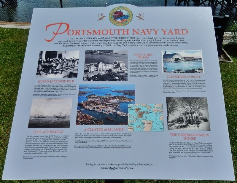 Portsmouth Navy Yard Marker image. Click for full size.