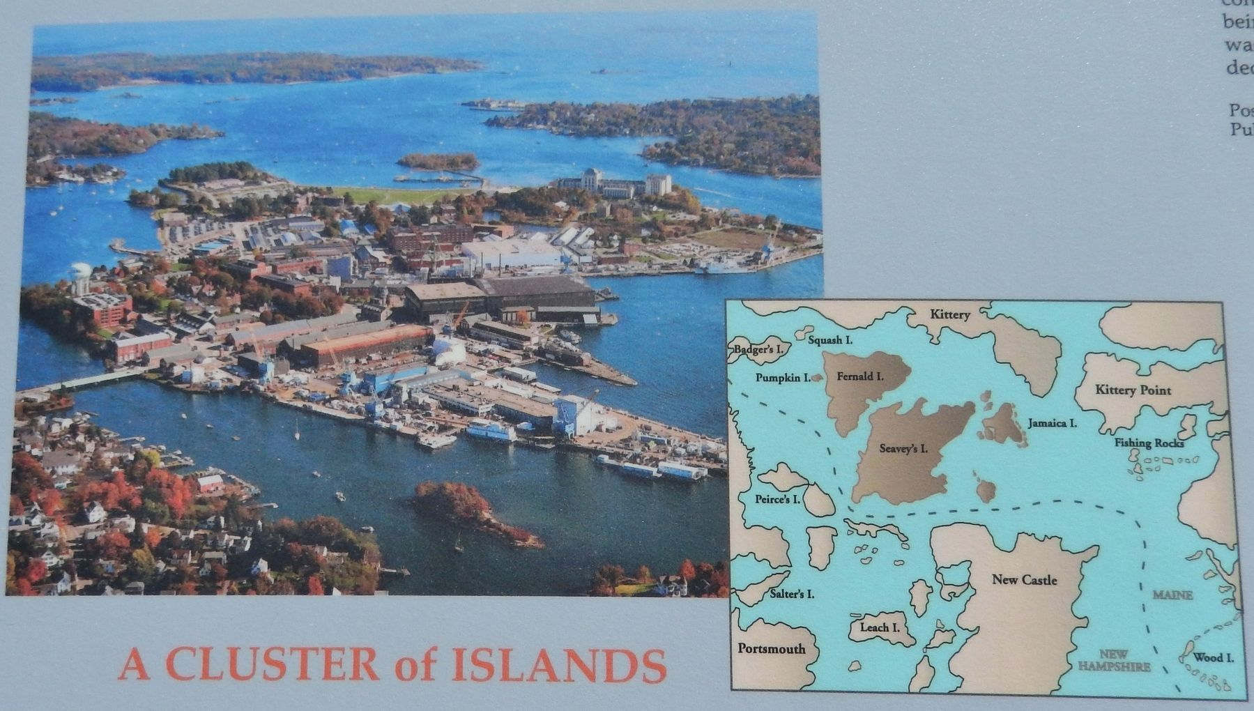 Marker detail: Aerial Photograph, Portsmouth Naval Shipyard, 2007 image. Click for full size.