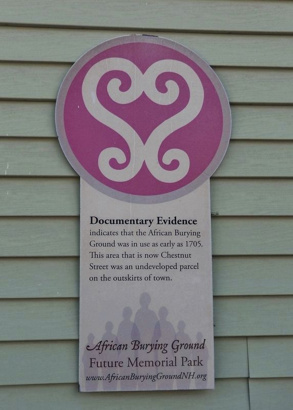 African Burying Ground Memorial Plaque (<i>near marker - on east side of same building</i>) image. Click for full size.