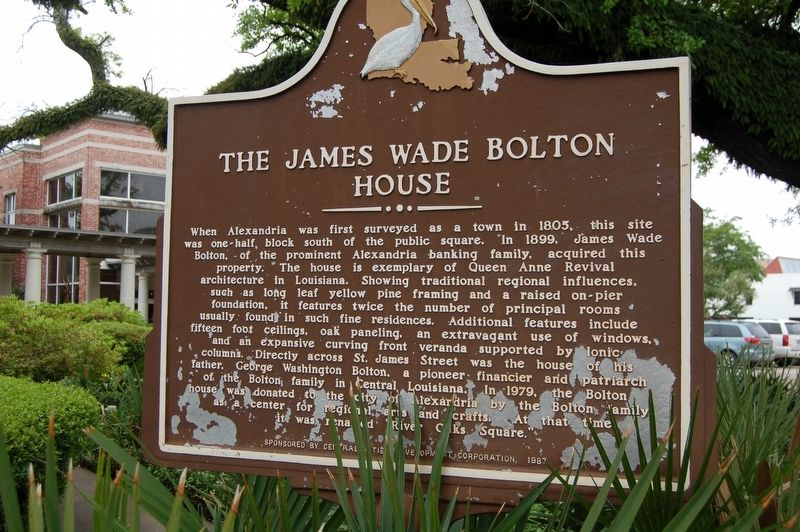 The James Wade Bolton House Marker image. Click for full size.