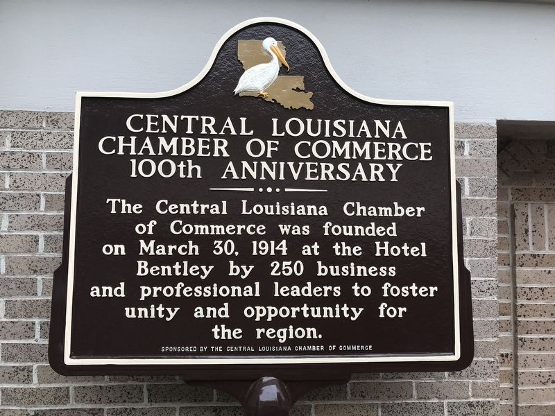 Central Louisiana Chamber of Commerce 100th Anniversary Marker image. Click for full size.