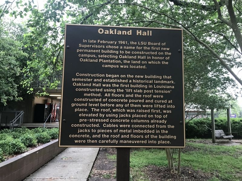 Oakland Hall Marker image. Click for full size.