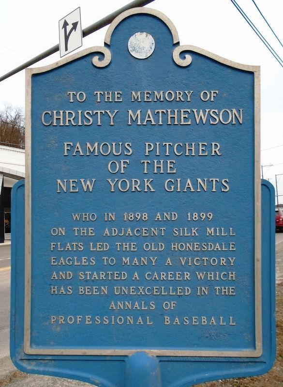 Christy Mathewson Marker image. Click for full size.