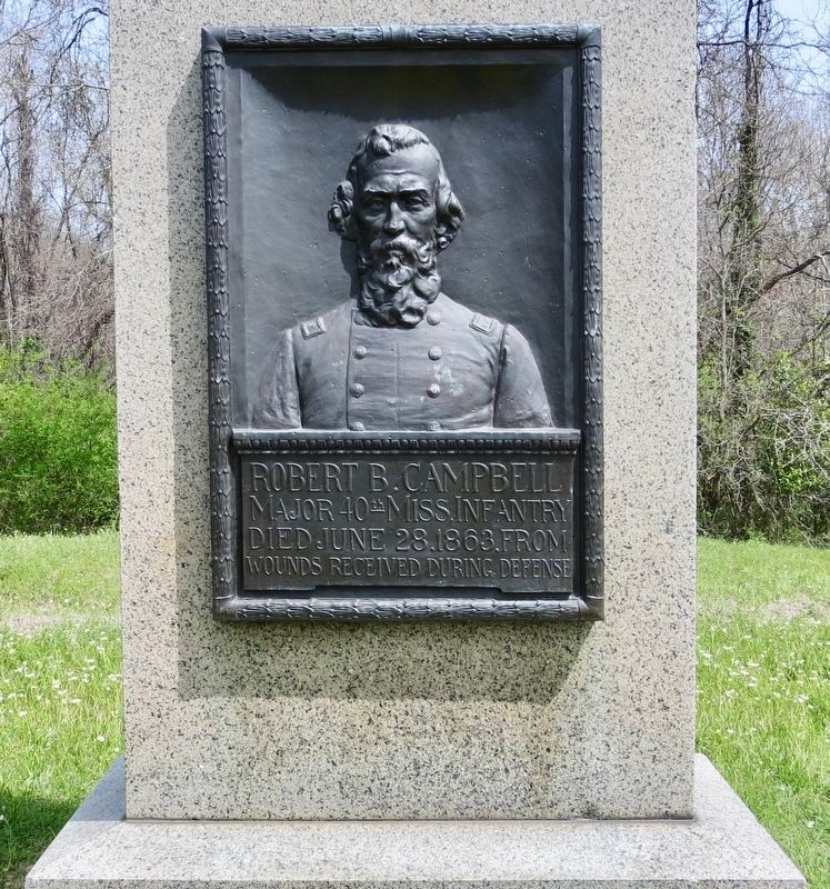 Robert B. Campbell monument. image. Click for full size.