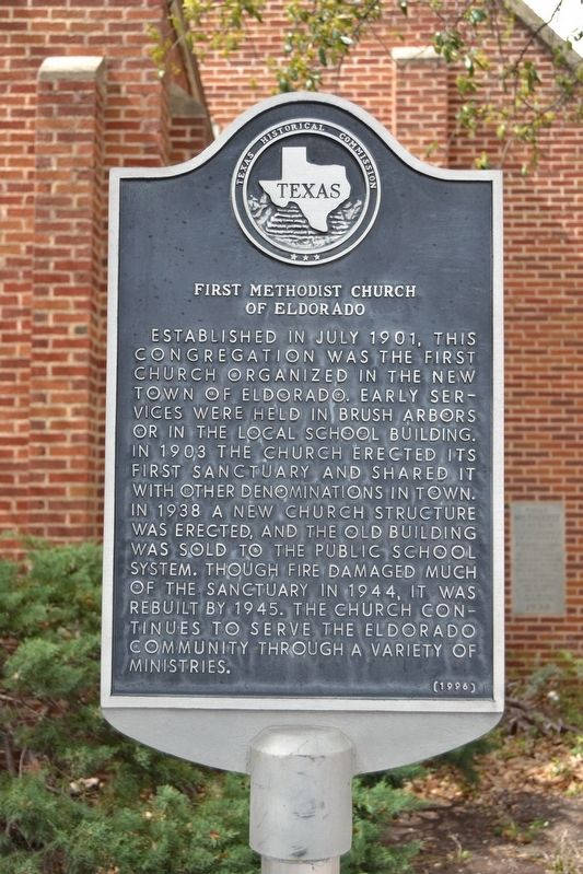 First Methodist Church of Eldorado Marker image. Click for full size.