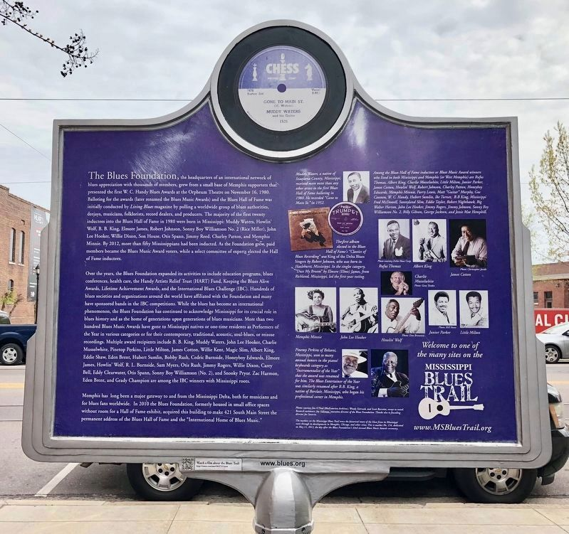 The Blues Foundation Marker (rear side) image. Click for full size.