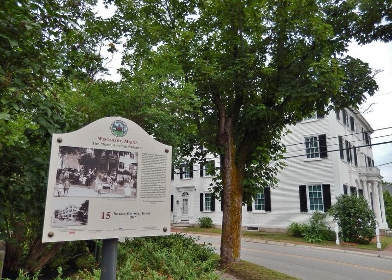 Nickels-Sortwell House 1807 Marker (<i>wide view; house across street to the left</i>) image. Click for full size.