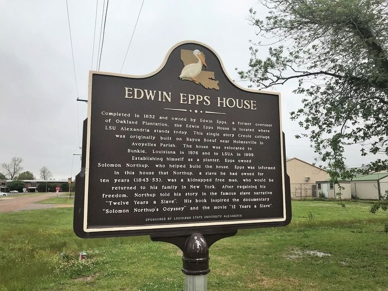 Edwin Epps House Marker image. Click for full size.