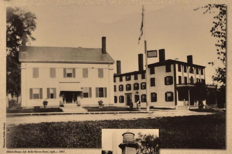 Marker detail: Hilton House, left, Belle Haven Hotel, right image. Click for full size.