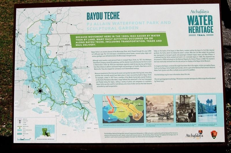 Bayou Teche Marker image. Click for full size.