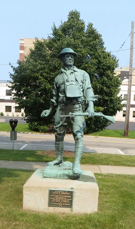 Waukegan Doughboy Statue Marker image. Click for full size.