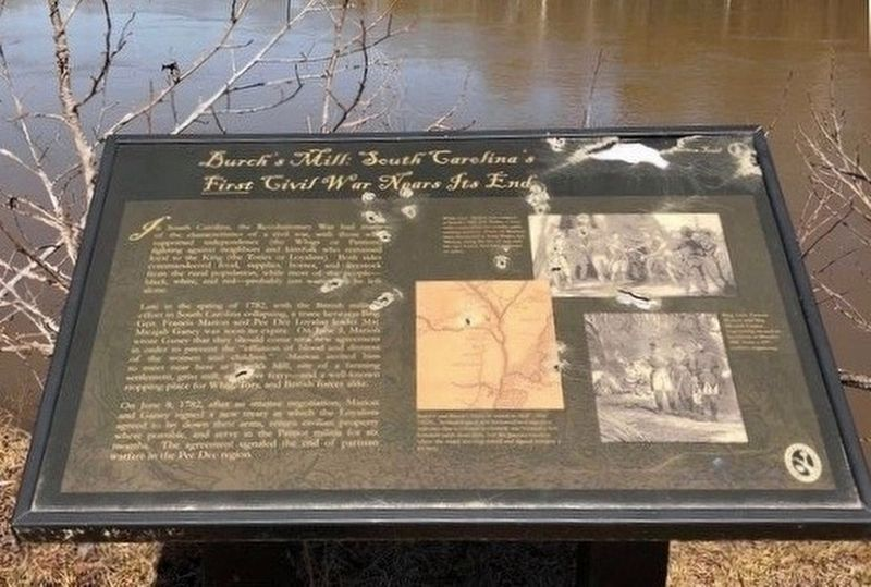 Burch's Mill: South Carolina's First Civil War Nears It's End Marker image. Click for full size.