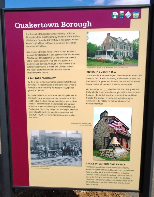 Quakertown Borough Marker image. Click for full size.