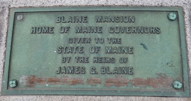 Blaine Mansion Marker image. Click for full size.