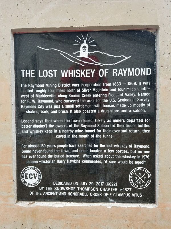 Last Whiskey of Raymond Marker image. Click for full size.