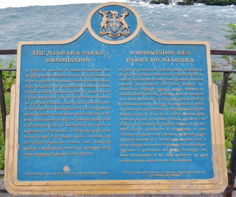 The Niagara Parks Commission Marker image. Click for full size.