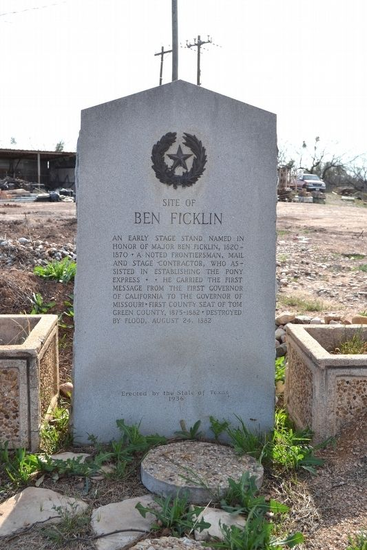 Site of Ben Ficklin Marker image. Click for full size.