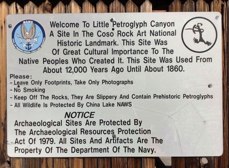 Sign, near the canyon image. Click for full size.
