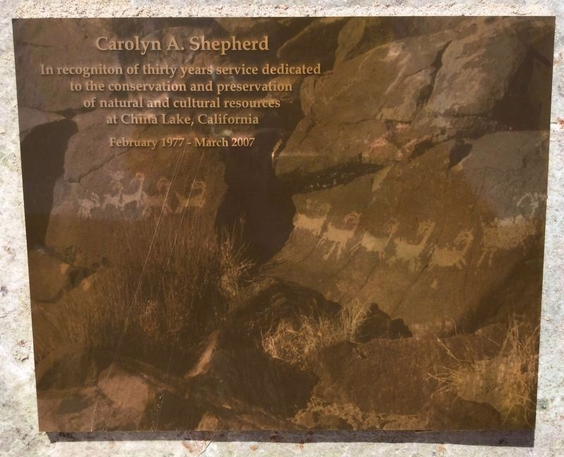 Tribute marker, near the canyon image. Click for full size.