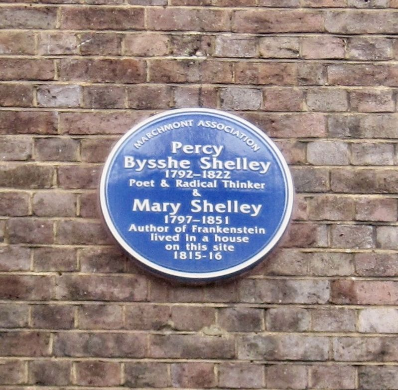 Percy Bysshe Shelley and Mary Shelley Marker image. Click for full size.
