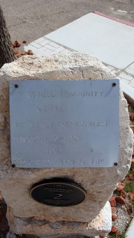 Goldfield Community Center Marker image. Click for full size.