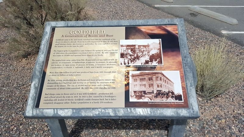 Goldfield Marker image. Click for full size.
