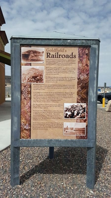 Goldfield's Railroads Marker image. Click for full size.