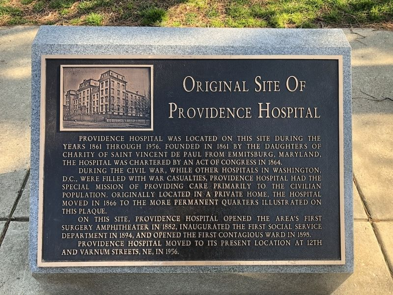 Original Site Of Providence Hospital Marker image. Click for full size.