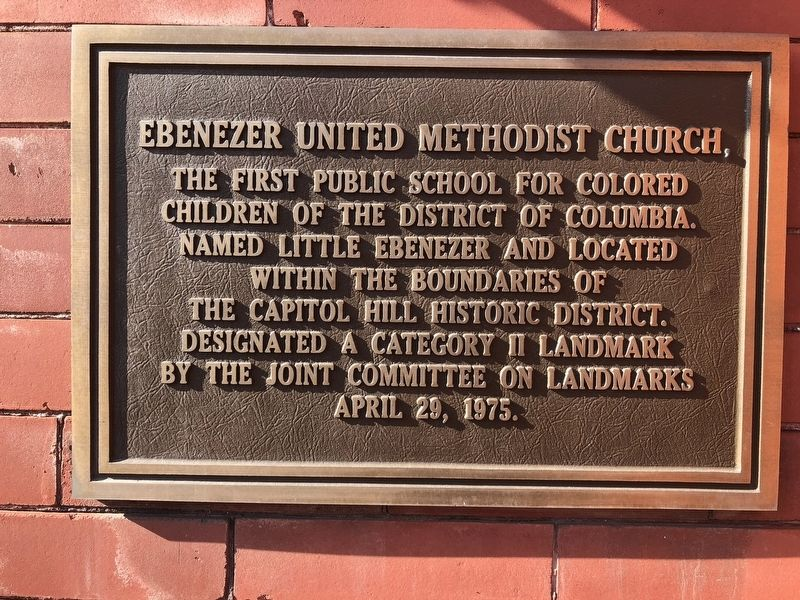 Ebenezer United Methodist Church Marker image. Click for full size.